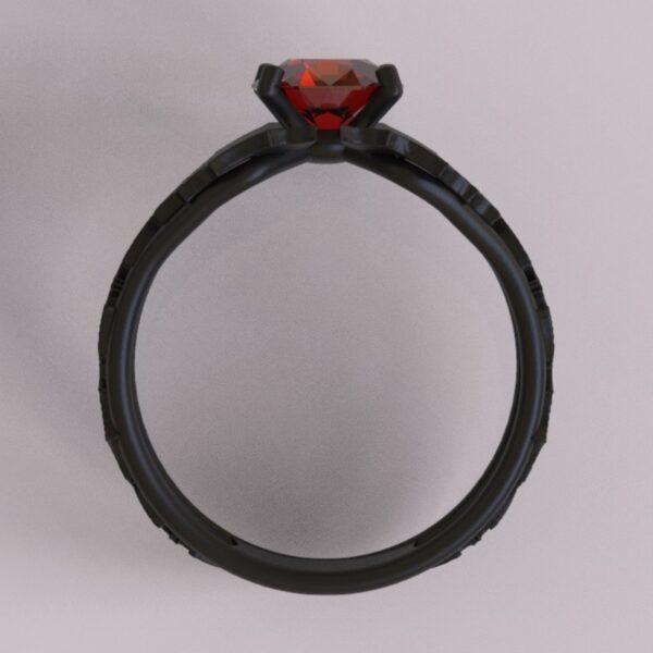 batman engagement ring black gold 4