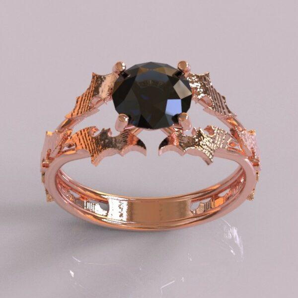 batman engagement ring rose gold 1