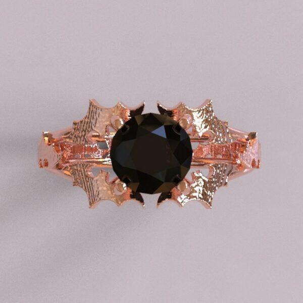 batman engagement ring rose gold 3