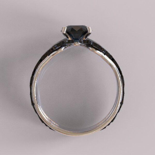 batman engagement ring white black gold 4