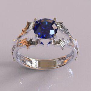batman engagement ring white gold 1