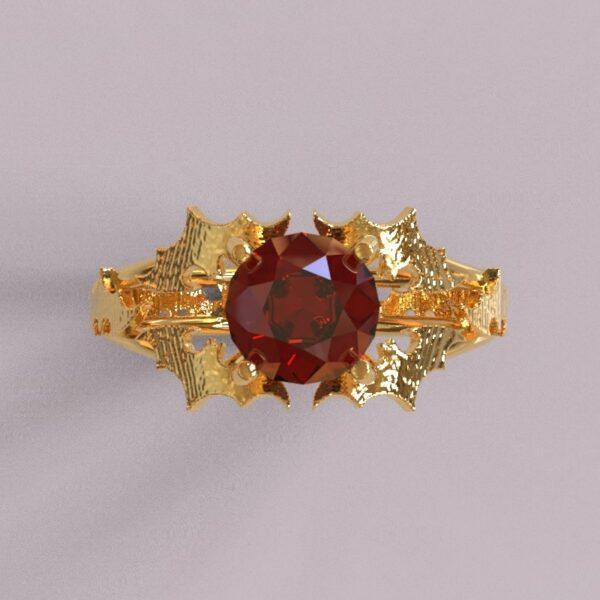 batman engagement ring yellow gold 3