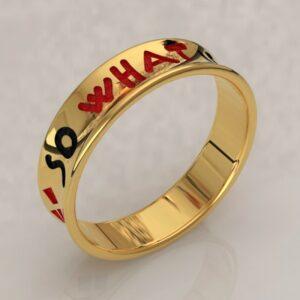 harley quinn wedding band gold 1