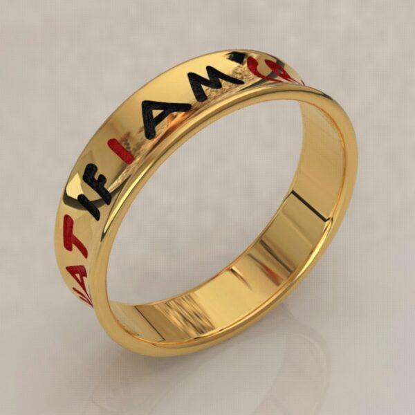 harley quinn wedding band gold 2