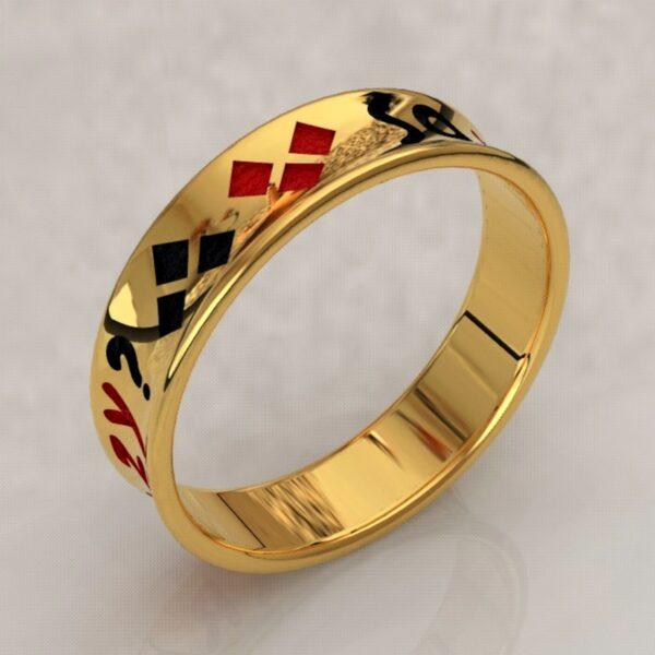 harley quinn wedding band gold 4