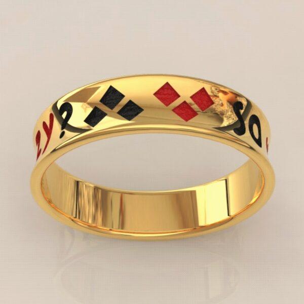 harley quinn wedding band gold 5