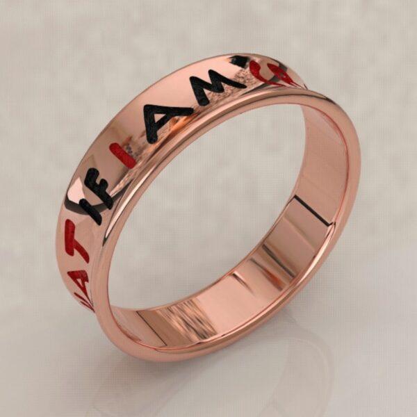 harley quinn wedding band rose gold 2