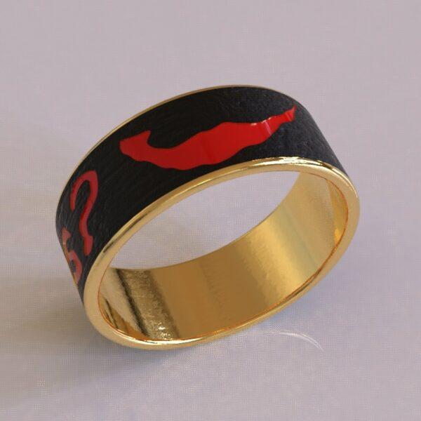 joker why so serious wedding band black gold 1