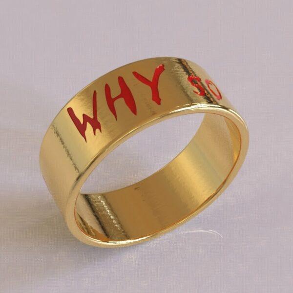 joker why so serious wedding band gold 1