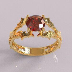 batman engagement ring yellow gold 1