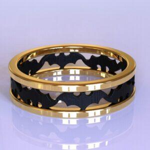 Batman wedding band gold 3