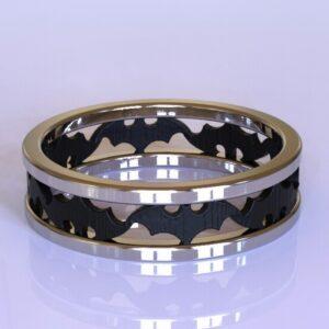 Batman wedding band white gold 3