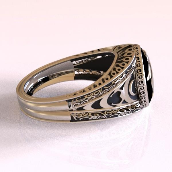 elaborate geeky ring