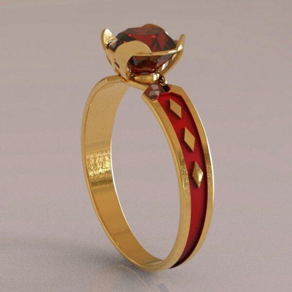 harley quinn engagement ring gold 1