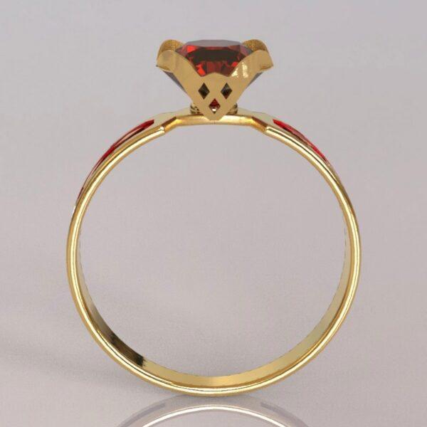 harley quinn engagement ring gold 3