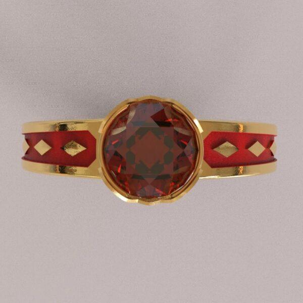 harley quinn engagement ring gold 4