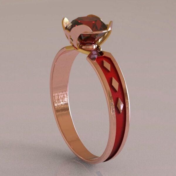 harley quinn engagement ring rose gold 1