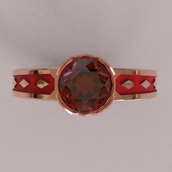harley quinn engagement ring rose gold 4