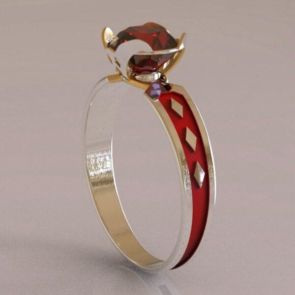 harley quinn engagement ring white gold 1
