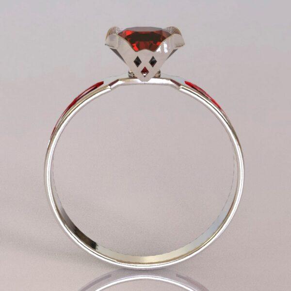 harley quinn engagement ring white gold 3