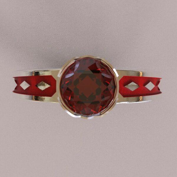harley quinn engagement ring white gold 4