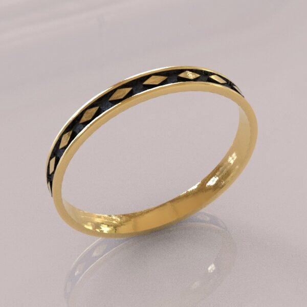 harley quinn wedding band II gold 1