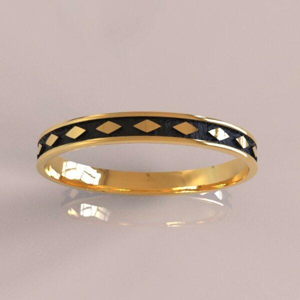 harley quinn wedding band II gold 3