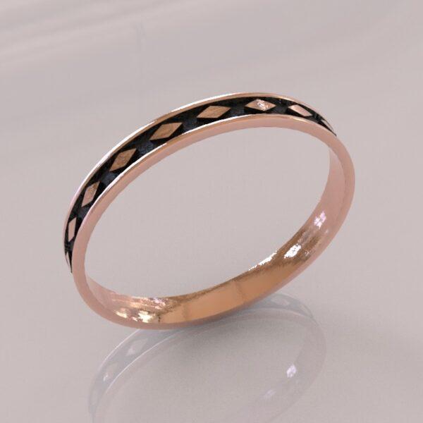 harley quinn wedding band II rose gold 1