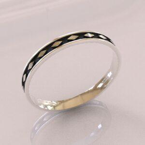 harley quinn wedding band II white gold 1