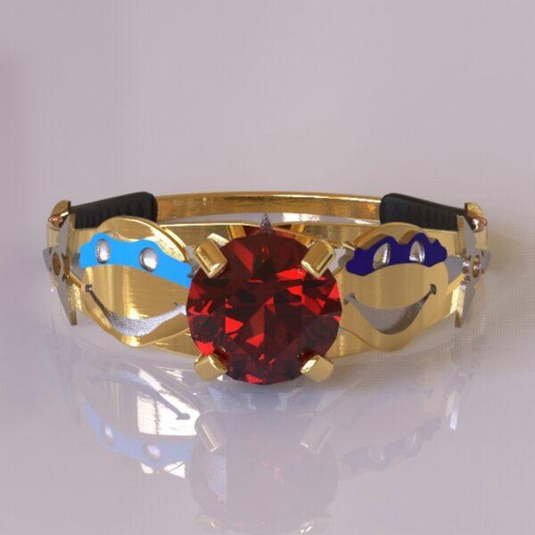ninja turtles engagement ring gold 2