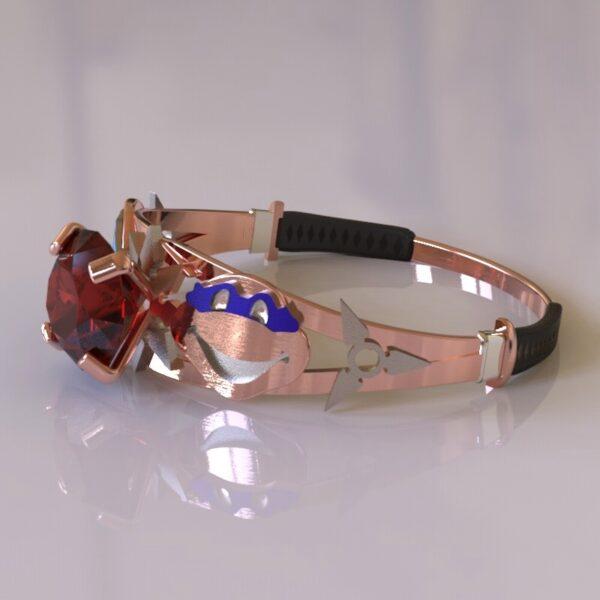 ninja turtles engagement ring rose gold 1