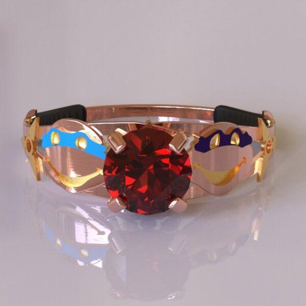 ninja turtles engagement ring rose gold 2