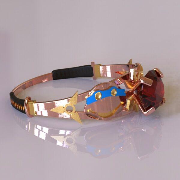 ninja turtles engagement ring rose gold 3