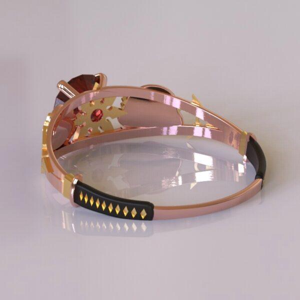 ninja turtles engagement ring rose gold 4