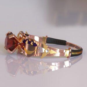 ninja turtles engagement ring rose gold 5