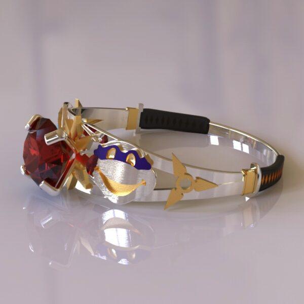 ninja turtles engagement ring white gold 2