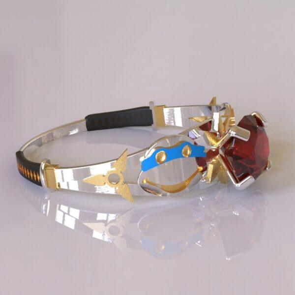 ninja turtles engagement ring white gold 3