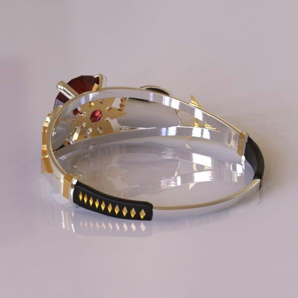 ninja turtles engagement ring white gold 4