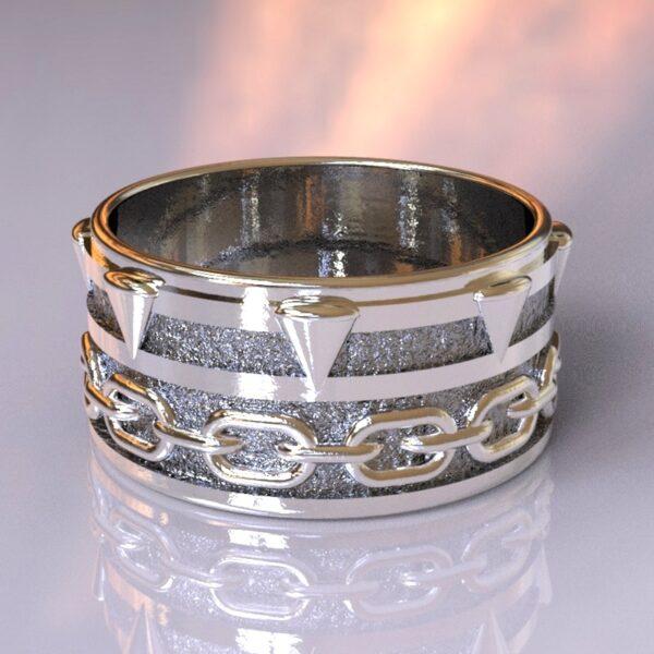 spawn wedding band silver 3