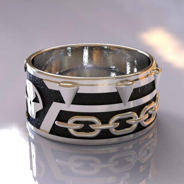 spawn wedding band silver black 2