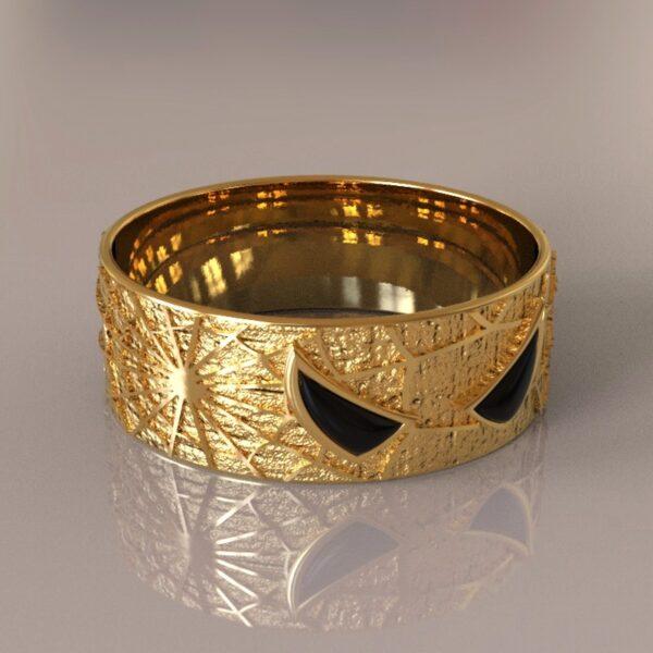 spiderman wedding band gold 1