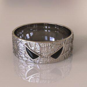 spiderman wedding band silver 2