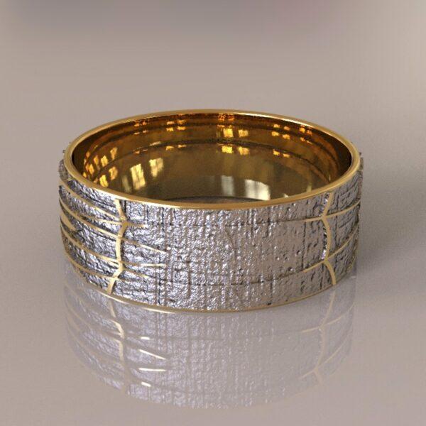 spiderman wedding band silver gold 4