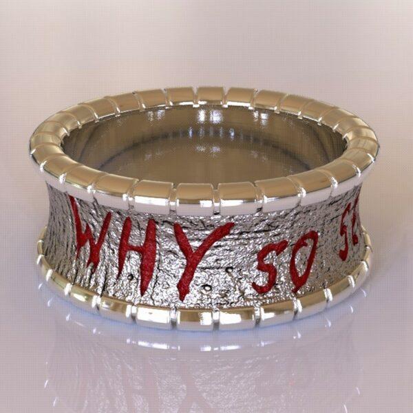 why so serious joker cracked wedding band white gold 2