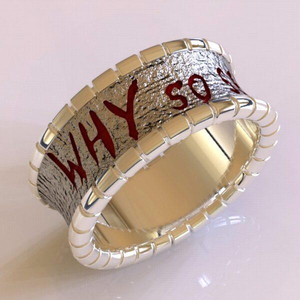 why so serious joker cracked wedding band white gold 4