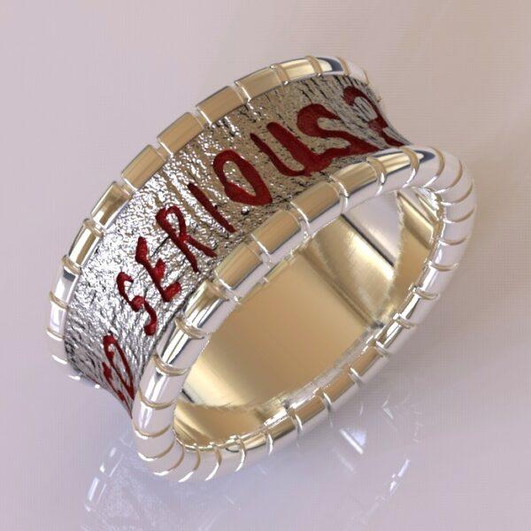 why so serious joker cracked wedding band white gold 5