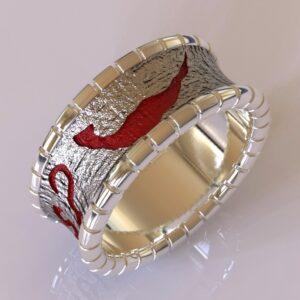 why so serious joker cracked wedding band white gold 6