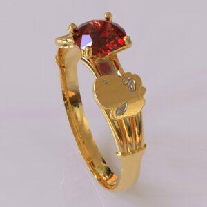 yoshi engagement ring gold 1