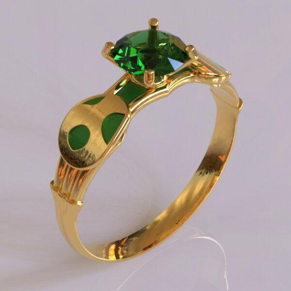 yoshi engagement ring gold 2
