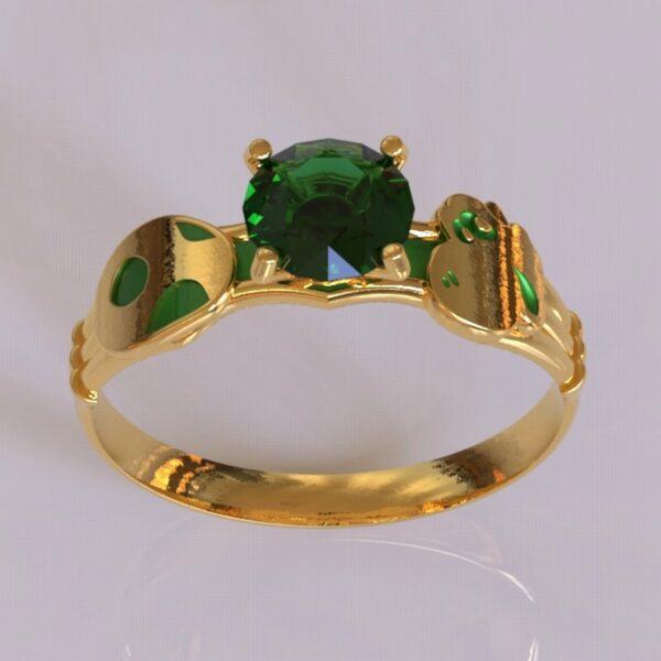 yoshi engagement ring gold 3